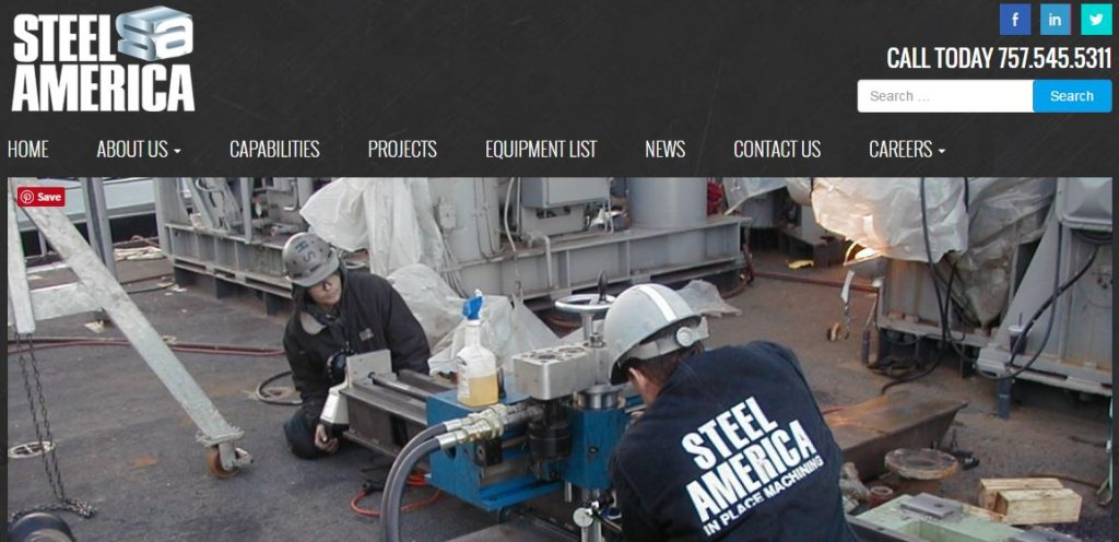 Steel America - Heavy fabrication, machining, Norfolk, VA