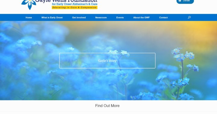 Gayle Wells Foundation for Early Onset Alzheimers | AIM Custom Media websites