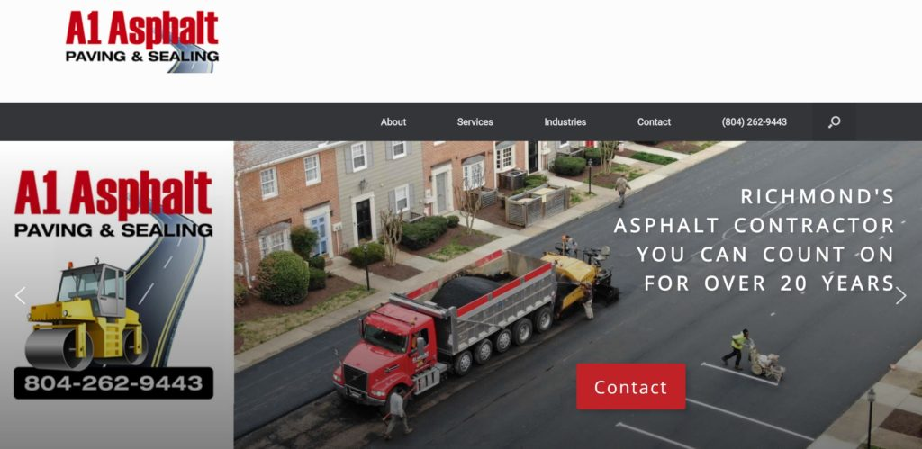 A1 Asphalt Paving Sealing Glen-Allen VA AIM Custom Media